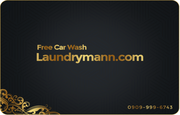 laundrymann free car wash card